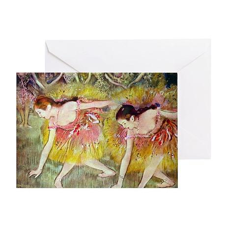 Edgar Degas Ballet Dancers Greeting Card
