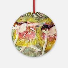 Edgar Degas Ballet Dancers Round Ornament