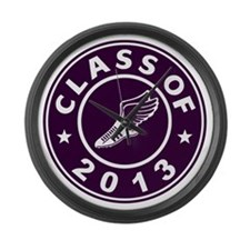Class Of 2013 Track Large Wall Clock
