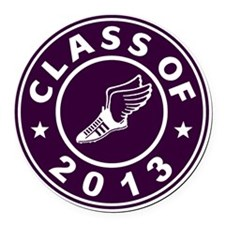 Class Of 2013 Track Round Car Magnet