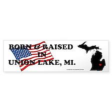 Born And Raised Union Lake Bumper Bumper Sticker