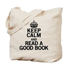 Keep Calm Good Book Tote Bag