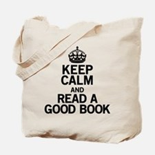 Keep Calm Good Book Tote Bag