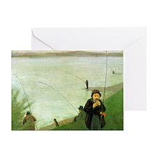 Macke Anglers on the Rhine Greeting Card