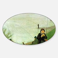 Macke Anglers on the Rhine Sticker (Oval)