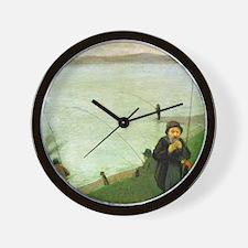 Macke Anglers on the Rhine Wall Clock