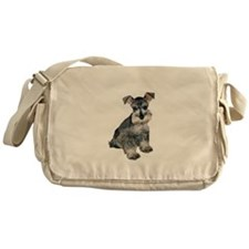 Schnauzer Pup3 Messenger Bag