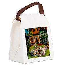 Crazy Quilt Canvas Lunch Bag
