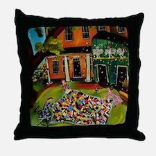 Crazy Quilt Throw Pillow