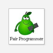 "Pair Programmer Square Sticker 3"" x 3"""