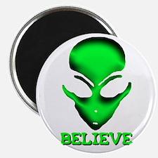 Classic Green Alien Believe Magnet