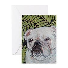 Journal Bulldog Ferns Greeting Card