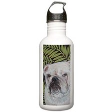 Journal Bulldog Ferns Water Bottle