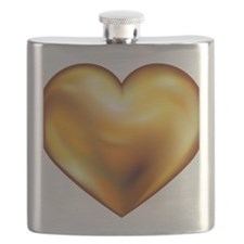 TRUTH CODES gold heart Flask