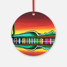 Sarape Horizon Round Ornament