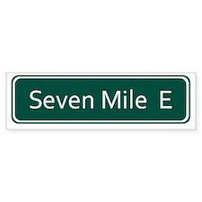 Seven Mile E Street Sign - Detroi Bumper Sticker