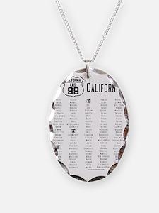 US Route 99 - California Citie Necklace