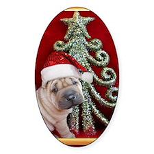 Christmas shar pei Decal