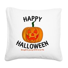 HAPPY HALLOWEEN - LOVE TO BE  Square Canvas Pillow