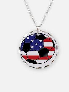 USA Soccer Ball Necklace