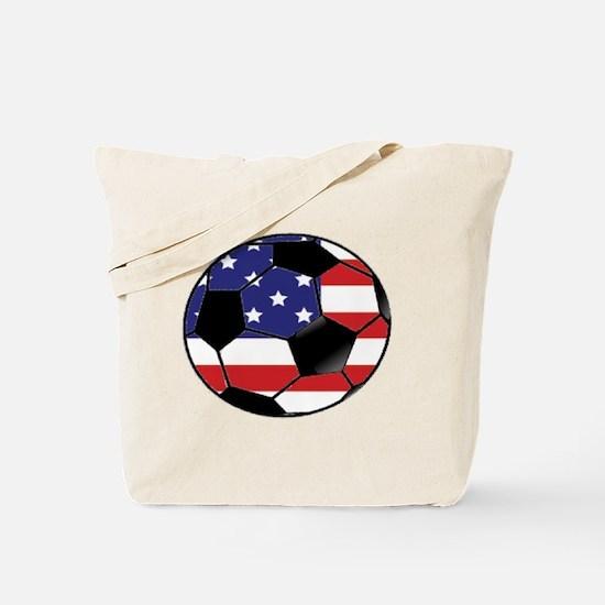 USA Soccer Ball Tote Bag