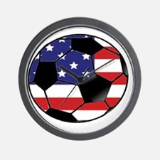 USA Soccer Ball Wall Clock