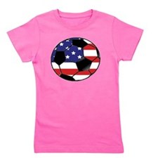 USA Soccer Ball Girl's Tee