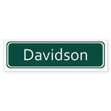Davidson Street Sign - Detroit Bumper Sticker