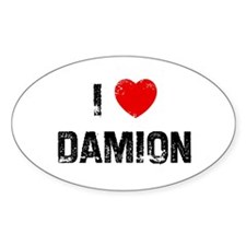 I * Damion Oval Decal