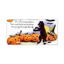 SongOfHalloweenGreetCard-a Aluminum License Plate