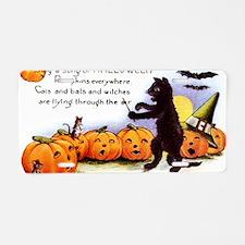 SongOfHalloweenGreetCard-a Aluminum License Plate