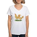 Buff Old English Bantams Women's V-Neck T-Shirt