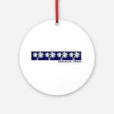 Malaga, Spain Ornament (Round)