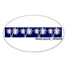 Malaga, Spain Oval Decal