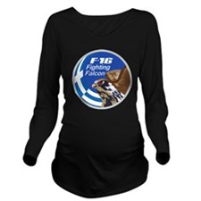 F-16 Fighting Falcon Long Sleeve Maternity T-Shirt