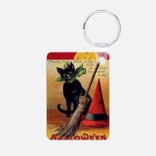 WitchsCatw/BroomHatGreetin Keychains