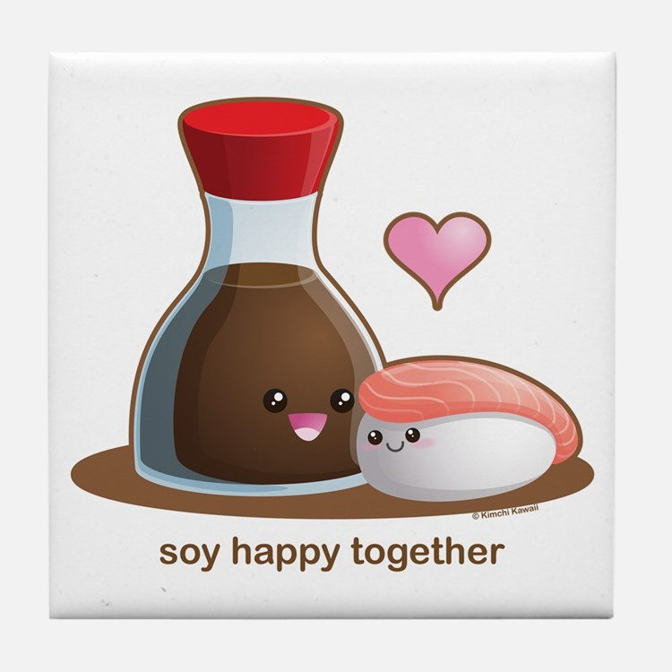 Soy Happy Tile Coaster