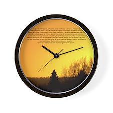 arbre genealogique Wall Clock