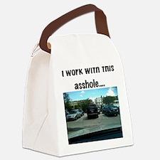 Parking asshole Canvas Lunch Bag