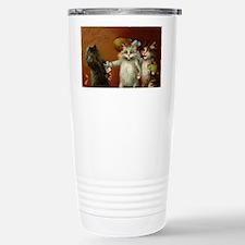 ThreeCatsGreetCard-a Travel Mug