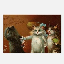 ThreeCatsGreetCard-a Postcards (Package of 8)