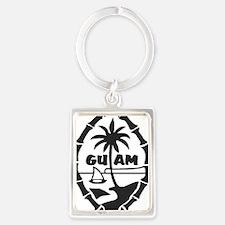 Guam Seal Portrait Keychain