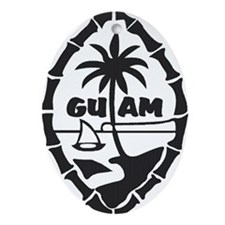 Guam Seal Oval Ornament