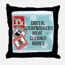 Digital Scrapbookers Throw Pillow