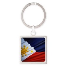 Filipino Pride Square Keychain