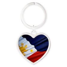 Filipino Pride Heart Keychain