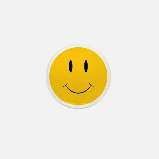 Happy Orange Face Mini Button