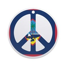 Guam Peace Round Ornament