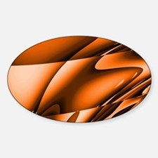 Orange Abstract Bedding Decal