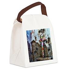 flower cross Canvas Lunch Bag